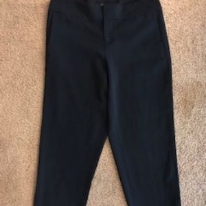 Ann Taylor Crop Wife Leg Navy Trousers Size 10